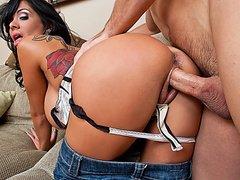 Максина  всасывает сперму